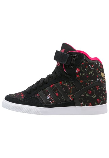 adidas Originals EXTABALL Sneakers hoog core black/vivid berry - Design Collect