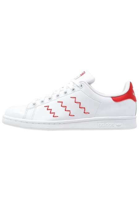 adidas Originals STAN SMITH Sneakers laag blanc/rouge - Design Collect