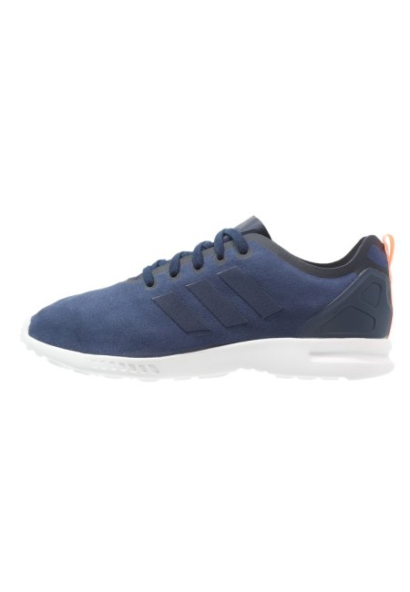 adidas Originals ZX FLUX SMOOTH Sneakers laag night indigo/light flash orange - Design Collect